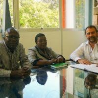 Reunião da missão da UAN com o prof. Paulo Pinheiro Machado, diretor do CFH/UFSC.